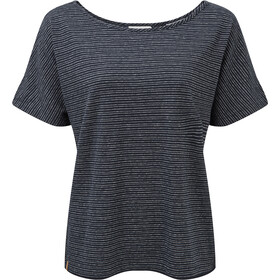 tentree Icefall T-Shirt Femme, dark ocean blue/elm white stripe